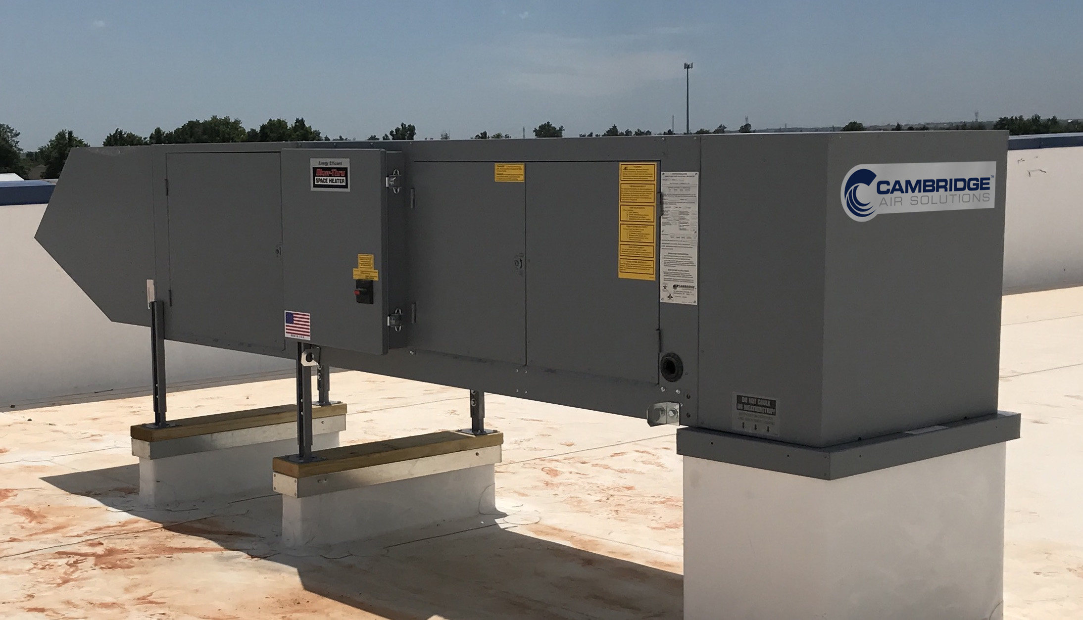 Cambridge S-Series Heater Rooftop Installation - Cambridge Air Solutions