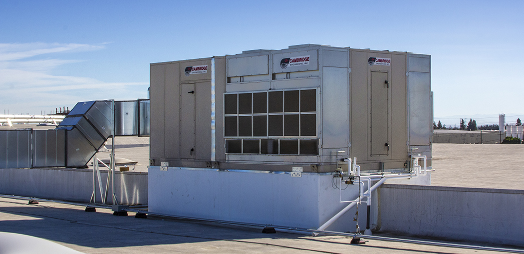 Commercial Evaporative Cooling Unit Rooftop Install - Cambridge Engineering®