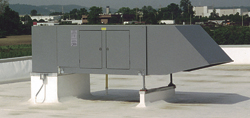 High Efficiency and Velocity Space Heater - Rooftop Installation