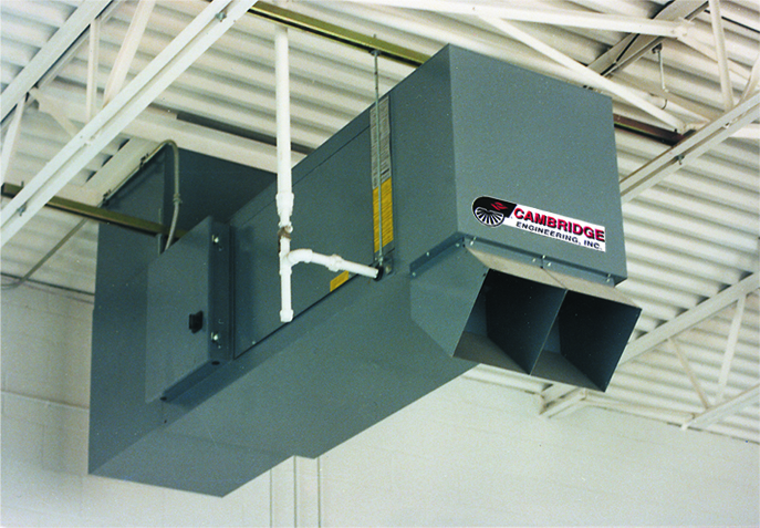 S-Series High Efficiency and Velocity Space Heater - Under Roof Installation