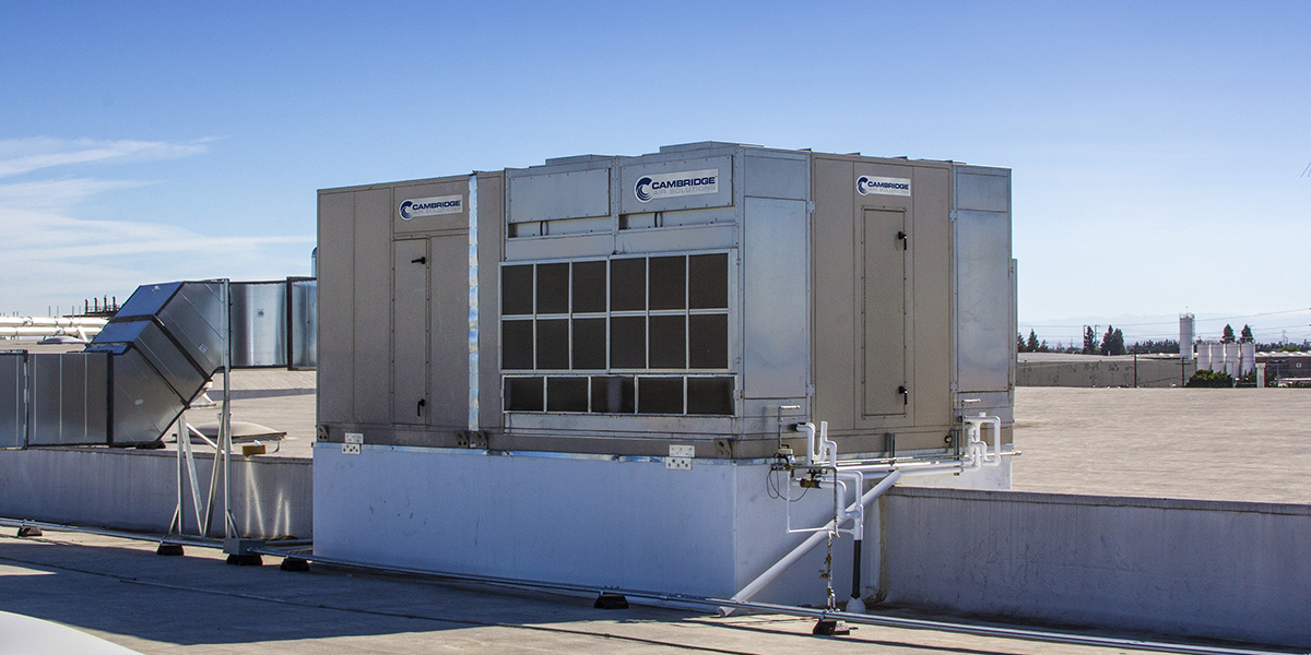 Commercial Evaporative Cooling Unit Rooftop Install - Cambridge Air Solutions®
