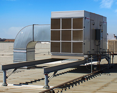 Rooftop Evaporative Cooling Unit Install-2 - Cambridge Engineering®
