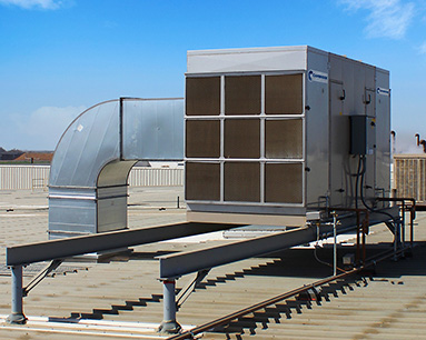 Rooftop Evaporative Cooling Unit Install-2 - Cambridge Air Solutions®