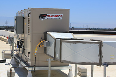 Rooftop Evaporative Cooling Unit Install - Cambridge Engineering®